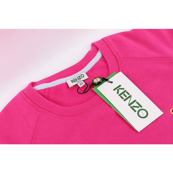 【KENZO】鋪棉小虎頭長袖上衣 (桃粉色) 2SW796950 26