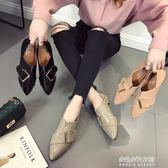 鞋子女新款韓版百搭皮帶扣尖頭漆皮粗跟小皮鞋單鞋女復古  朵拉朵衣櫥