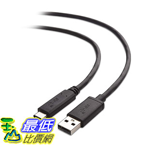 [8美國直購] 充電線 Cable Matters USB-IF Certified 10 Gbps Gen 2 USB A to USB C Cable (USB C to USB Cable) in Black 3.3 Feet