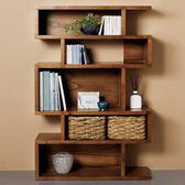 書櫃 書架 收納 北歐實木書櫃儲物收納展示櫃 美式創意實木書櫃多功能隔斷置物架全館免運!~`