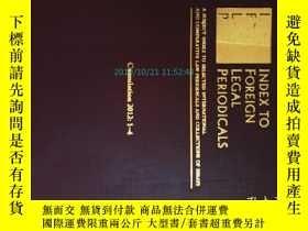 二手書博民逛書店Index罕見to Foreign Legal Periodic