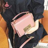 5色 女正韓漆皮小斜背包鏈條迷你手提小包皮包 巴黎時尚生活