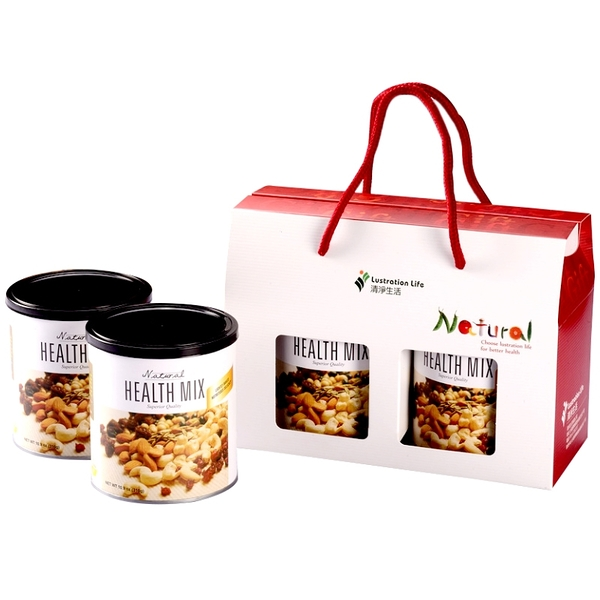 【清淨生活】天然綜合堅果禮盒 (310gX2罐入)