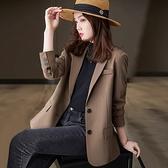 西裝外套~小西裝外套女春秋韓版英倫風休閑網紅氣質西服上衣F3062B快時尚