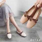 2018新款平底單鞋女夏季韓版時尚淺口方頭平跟鞋女 XW2239【潘小丫女鞋】