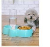 寵物碗狗碗盆貓咪碗食盆雙碗自動飲水器【聚寶屋】