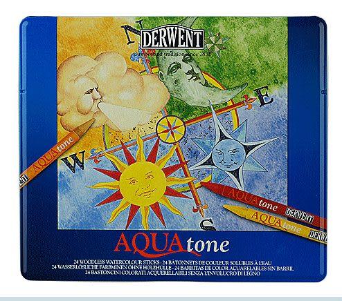 英國Derwent Aquatone系列/24色彩色固體棒*0700174