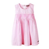 『小鱷魚童裝』條紋無袖洋裝(02號~10號)533391