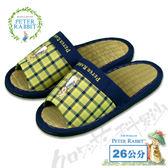 【クロワッサン科羅沙】Peter Rabbit  雙色井格素邊草拖鞋 (黃色26CM)