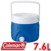 【Coleman 美國 7.6L 置物型飲料冰桶 藍色 】CM-1363/保冰桶/飲料桶/保冷壺/紅茶桶★滿額送