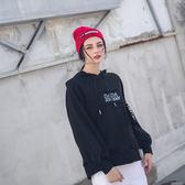 DADA SUPREME 率性泡泡袖連帽上衣-女-黑