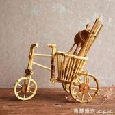 竹根工藝品創意筆筒花器插花竹根筒擺件杯子瀝水架茶道配件竹跡 瑪麗蓮安