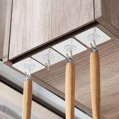 【優選】鏡面粘膠掛鉤墻壁免釘掛架10個裝廚房浴室