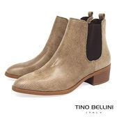 ★零碼出清★Tino Bellini英式經典時髦切爾西靴_駝  A69068 2016AW