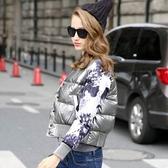 羽絨外套 短款-歐美棒球外套修身顯瘦女外套72i28【巴黎精品】
