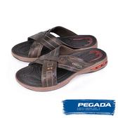 【PEGADA】巴西名品時尚運動涼拖鞋  深咖啡(31901-DBR)