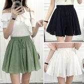 短裙 半身裙夏季短裙女夏學生小清新裙子女夏韓版學院風高腰蓬蓬裙褲裙