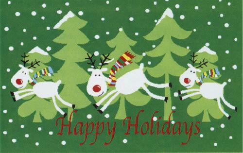 范登伯格 聖誕系列 歡樂麋鹿腳踏墊-44x66cm