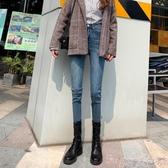 鉛筆褲牛仔褲女2020秋冬新款高腰加厚韓版修身顯瘦百搭緊身小腳褲子 春季上新