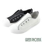U28-2F102 女款山羊皮休閒鞋 國際精品時髦釘珠義大利山羊皮平底休閒鞋【GREEN PHOENIX】