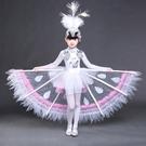 小荷風采六一兒童演出服女幼兒園民族舞蹈傣族小白翎孔雀舞表演服