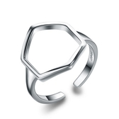 925純銀戒指-幾何線條生日情人節禮物女配件73an31【巴黎精品】