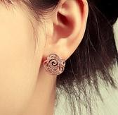 花朵耳環(無耳洞用)