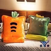 抱枕被子兩用靠墊午睡毯子枕頭神器折疊車載三合一【古怪舍】