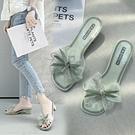 高跟拖鞋 港風拖鞋女ins潮2021新款夏季外穿百搭粗跟一字涼拖中高跟女鞋子 韓國時尚週