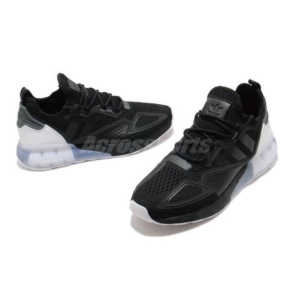 adidas 休閒鞋 ZX 2K Boost 黑 白 男鞋 三葉草 運動鞋 【ACS】 FZ2946