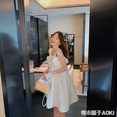 白色吊帶洋裝女年夏季新款韓版寬鬆高腰遮肚子裙子洋氣減齡 青木鋪子