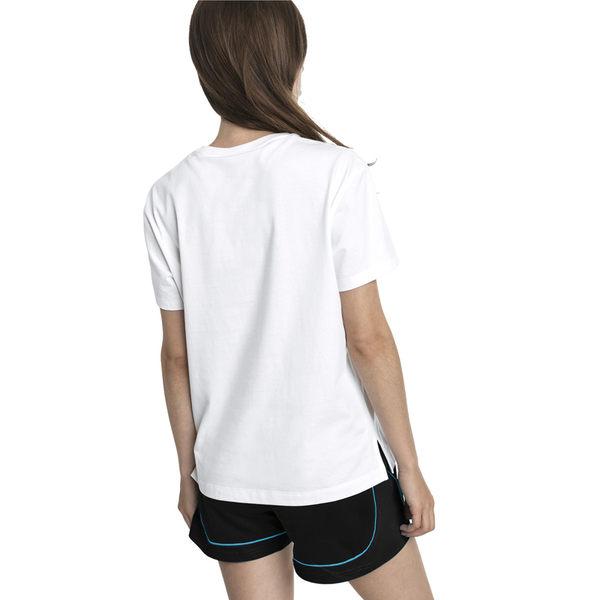 Puma Classics 女 白 印花 短袖 運動上衣 短袖 T恤 運動 休閒 慢跑 瑜珈 棉質上衣 57904782