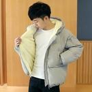 男士內刷毛防風外套正韓短版潮流羽絨外套防寒雙口袋外套