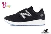 New Balance 飛機鞋 亮眼顯色 中童 寬楦 運動鞋 O8492#黑色◆OSOME奧森鞋業
