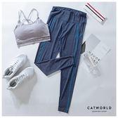 Catworld 花紗輕著感。彈力瑜珈運動褲【12001896】‧S-2XL