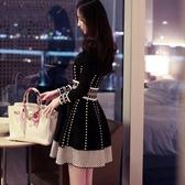 連身裙2020春秋新款女裝遮肚子冬季連身裙女加厚小香風針織秋冬款打底裙 新年禮物