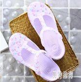 果凍鞋 新款洞洞鞋女士韓版沙灘鞋涼鞋夏季果凍鞋厚底拖鞋TA832『男神港灣』
