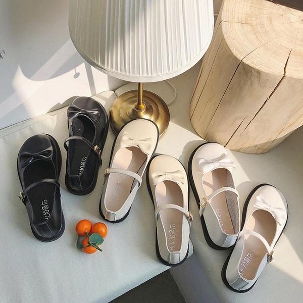 甜美蝴蝶結單鞋lolita圓頭娃娃鞋淺口可愛洛麗塔小皮鞋學生軟妹鞋 潮流前線