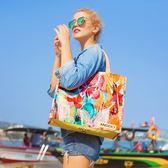ins超火網紅手提旅行收納大袋子防水便攜小包防水包女環保購物袋-奇幻樂園