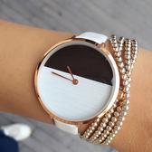 女士手錶韓版潮流時尚休閑女錶皮帶細帶石英情侶腕錶《小師妹》yw176