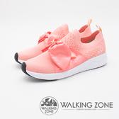 WALKING ZONE Daymark天痕戶外W系列 (夢幻緞帶蝴蝶結) 飛線編織 女鞋-粉(另有黑、深藍、淺藍)
