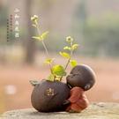 精品可愛紫砂小和尚茶寵可養擺件水培插花茶具花器【聚寶屋】