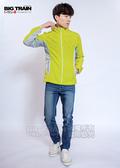 BIG TRAIN 男款配布防風外套-男-芥綠/藍