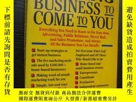 二手書博民逛書店Getting罕見business to come to you