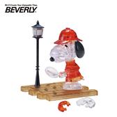 【日本正版】BEVERLY 史努比 偵探 立體水晶拼圖 34片 3D拼圖 水晶拼圖 公仔 模型 Snoopy - 486527