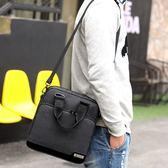 公事包多口袋男士手提包時尚正韓牛津布包男休閒單肩側背包簡約帆布小包
