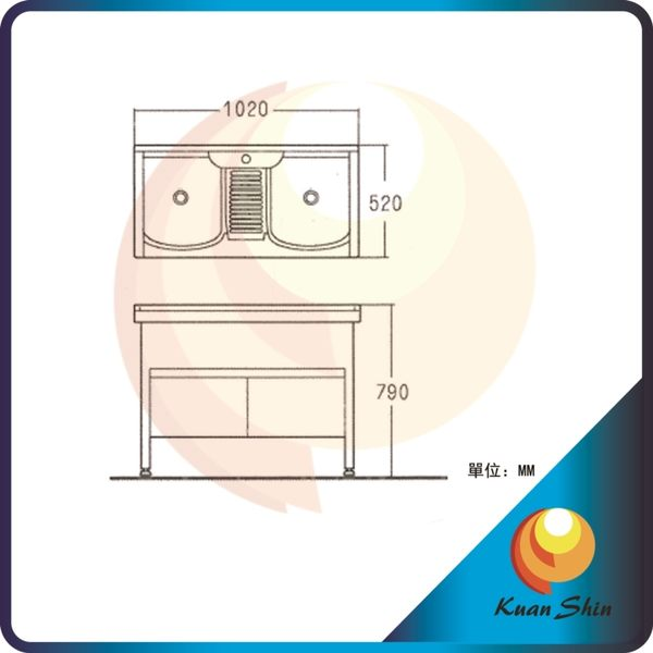 KARNS卡尼斯 浴室櫃 BR-1050(不含龍頭)