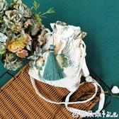 新款森擊小包古風漢服包中國風仙女刺繡斜背包側背包配古裝布荷包『快速出貨』