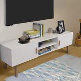 簡約電視櫃地櫃茶幾組合客廳小戶型實木電視桌儲物櫃收納櫃儲物櫃igo 美芭