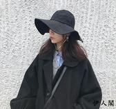 女潮日系可折疊布帽出游遮陽帽